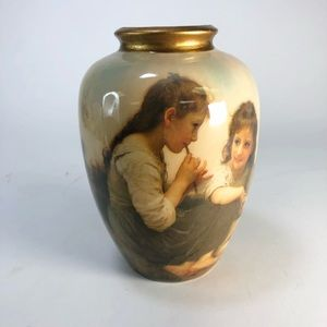 Rare Vase Depicting Young Children of Edwardian